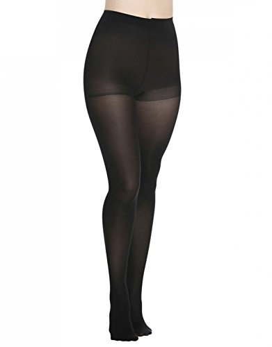 DKNY Light Opaque Control Top Tights 00N62 (Small, Navy)
