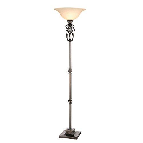 Stein World 96620 Elegant S Scroll Metal Torchiere Floor - Lamp Iron Transitional Floor