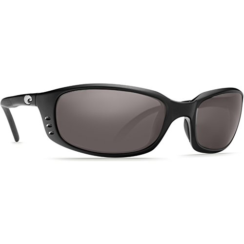 Costa Del Mar Brine Polarized Sunglasses Matte Black/ Gray 580p