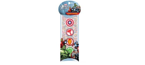 Marvel Comics Avengers Loom Bands and Charm Pack (100 Bands, 6 Clips and 4 Charm)