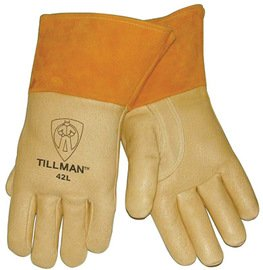 John Tillman Glove Mig/Tig Premium Heavyweight Pigskin Gold Size X-Large With Cotton/Foam Lined Back -1 Dozen Pairs