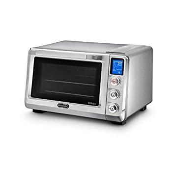 Image of DeLonghi EO241250M Livenza Digital Stainless Steel Countertop Convection Oven Home and Kitchen