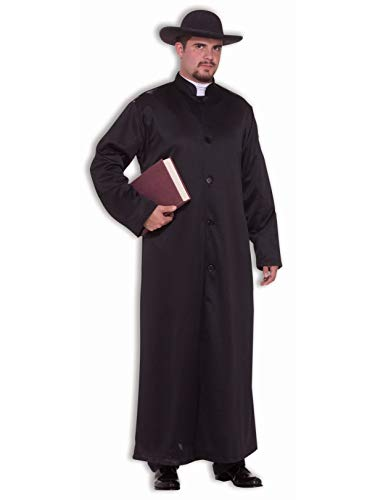 Forum Novelties Men's Biblical Times Padre Robe Costume, Black, One Size]()