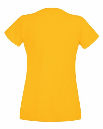 Fruit Of The Loom- Camiseta de manga corta Valueweight para mujer Medium,Yellow - Sunflower