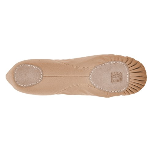 Leo's LS2006 Leather Stretch Ballet Shoes, Split Sole Pink