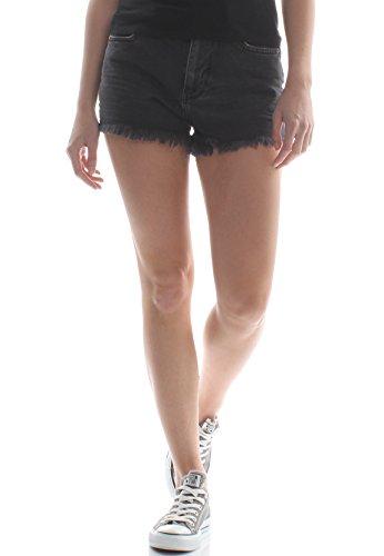 Cut Femme Shorts amp; dlav Short Superdry Eliza Noir Pantalons Off BCYUxwq