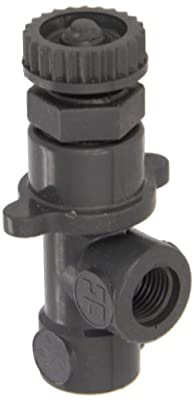 "Hayward PVC Globe Valve, FPM Seal, 1/4"" Threaded from Hayward"
