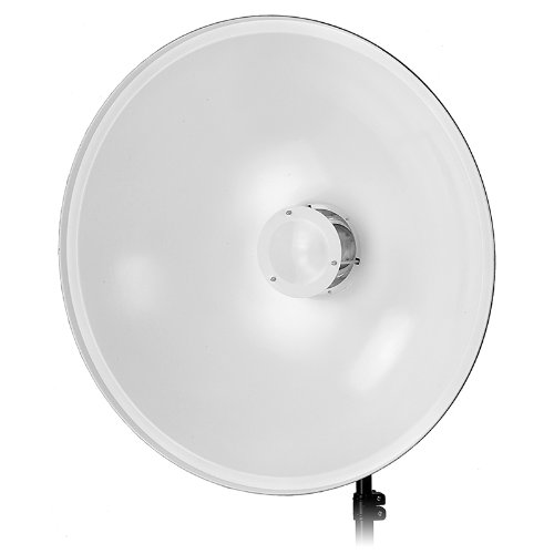 Fotodiox Pro 28in (70cm) All Metal Beauty Dish with Bowens Insert - Soft White Interior