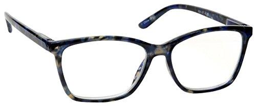 The Reading Glasses Company Blue Tortoiseshell Wrap Readers Large Designer Style Mens Womens R51-3T +1.25
