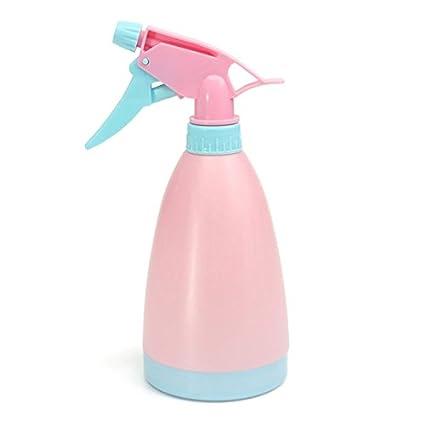 Bluelover 450Ml Jardín Color Caramelo Mano Presión Regadera Plástico Rociada Puede - Rosa