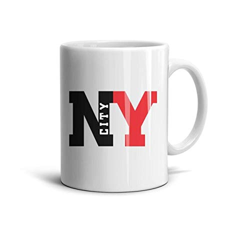DNSIFH55 White Ceramic Cup East New York Funny 11 oz Coffee Cup Used to Hold Latte Cappuccino Tea Coffee Water Drinks Milk for Friends
