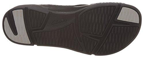 Clarks 261241644, Sandalias Mujer Negro (Black Leather)