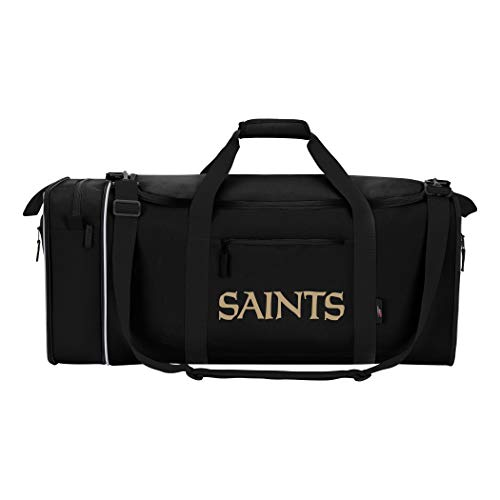 The Northwest Company NFL New Orleans Saints NFL Steal Duffel, Black, Measures 28'' in Length, 11'' in Width & 12'' in Height by The Northwest Company
