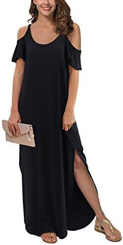 GRECERELLE Womens Strapless Shoulder Dresses