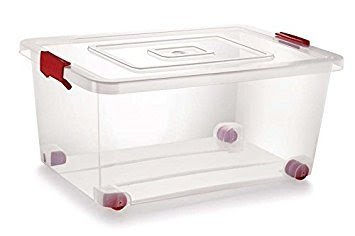 Buy Siva Naturals Plastic Storage Box With Lack And Wheel 20 L