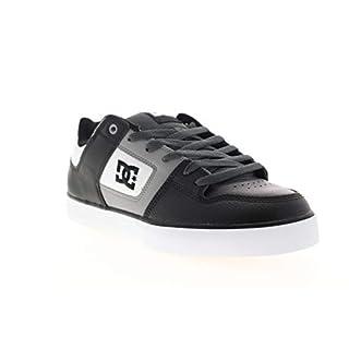 DC Men's Pure Skate Shoe, White/Grey/Black2, 18 Medium US