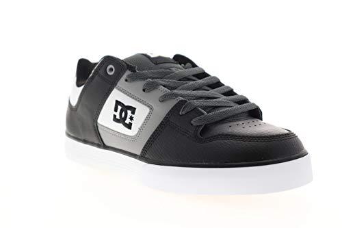 DC Men's Pure Skate Shoe, White/Grey/Black 20, 17 Medium US
