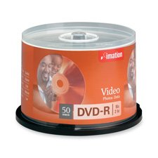 Imation - DVD-R, 16X, 4.7GB, Branded, 50/PK,Silver, Sold as 1 Package, IMN 17341