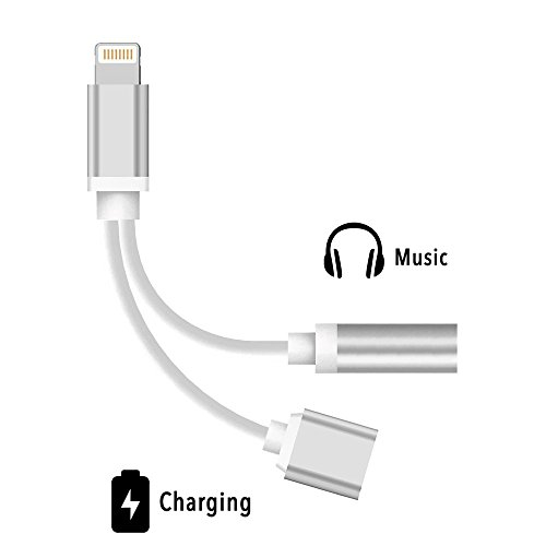 Cheap Cables & Interconnects 2 in 1 Lightning Charger Adapter and Charger, Seotic Headphones Adapter, Charger..