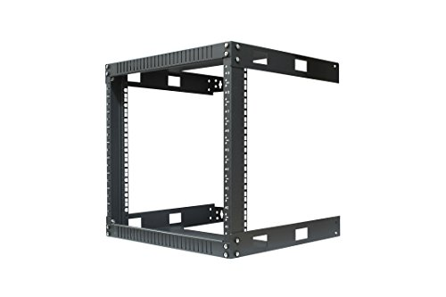 KENUCO 9U Wall Mount Open Frame Steel Network Equipment Rack 17.75 Inch Deep