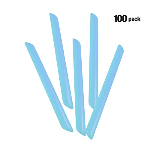 Dental Oral Evacuator Tips Non Vented, Pack of 100 (Light Blue)