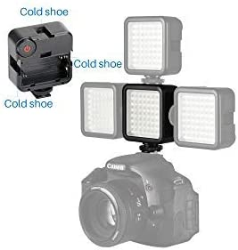 W49 Mini LED Video Light w 3 Cold Shoe Mounts for DJI OSMO Action Pocket//Ronin S//OSMO Mobile 2 3 Gimbal Canon Nikon Sony A6400 iPhone Samsung OnePlus 7 Pro Gopro Vlog Lighting