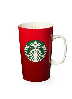 Starbucks Red Holiday Mug, 16 Fl Oz