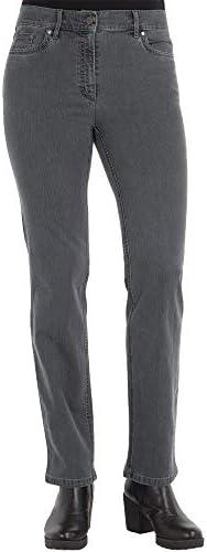 Zerres Core Jeans stretch pour femme Coupe droite Comfort S Strass - Gris - 50