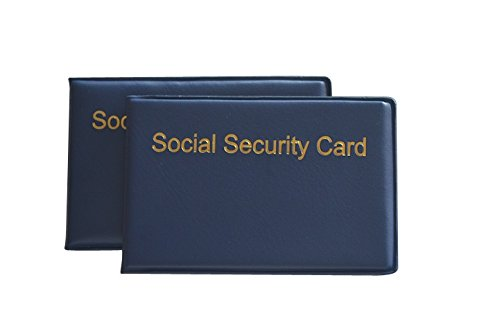 SOCIAL SECURITY CARD HOLDER 2-PACK SILVER PRODUCTS
