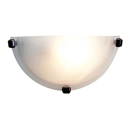 Access Lighting 20417LEDDLP-ORB/ALB Mona LED Wall Sconce with Alabaster Glass Diffuser