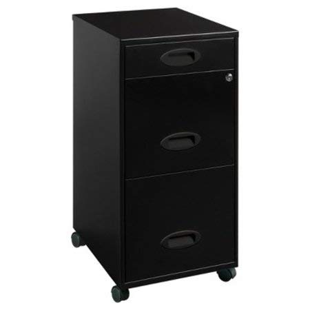 3 Drawers Vertical Metal Lockable Filing Cabinet (Set of 2) by Lorell