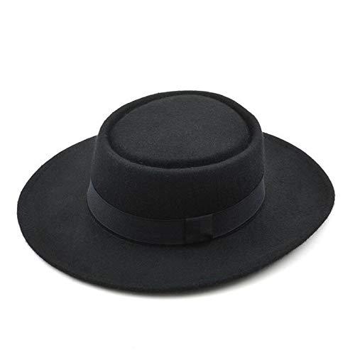 (Dreamstar Panama 100% Wool Pure Cashmere Shaped Solid Borsalino Hat Felt Gambler Jazz Hat for Men and Women Fedoras)
