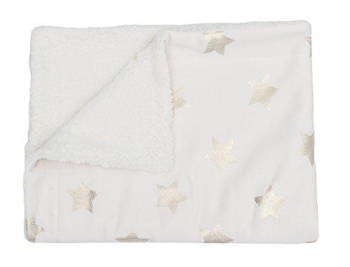 Thro by Marlo Lorenz Baby Throw Sophia Foil Stripe Stars Jersey, Egret Gold from Thro by Marlo Lorenz