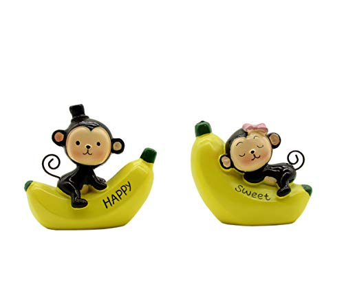 Monkey Cake Decorations (Creative Lovely Monkeys Cake Topper, Dashboard Decorations Car Home Office Ornaments Best Birthday Holiday Gift(a)