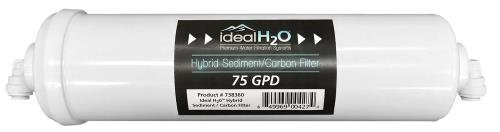 Ideal H2O Hybrid Sediment/Carbon Filter (12/Cs) by Ideal H2O