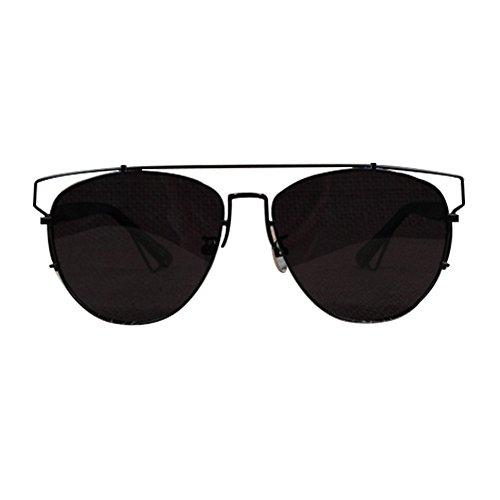 Aviator Vintage Womens Sunglasses Retro Eyewear Lens Black - 8