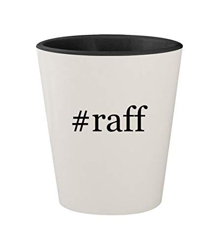 #raff - Ceramic Hashtag White Outer & Black Inner 1.5oz Shot Glass