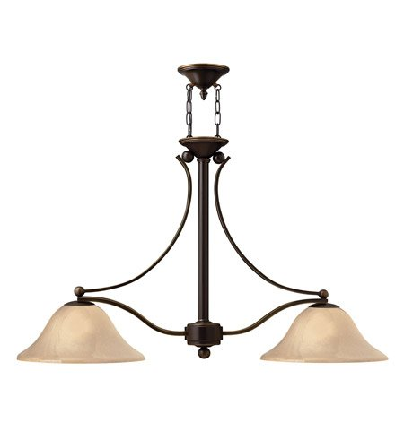 Hinkley 4662OB Transitional Two Light Linear Chandelier from Bolla collection in Bronze/Darkfinish, - Bolla Collection Outdoor Lantern
