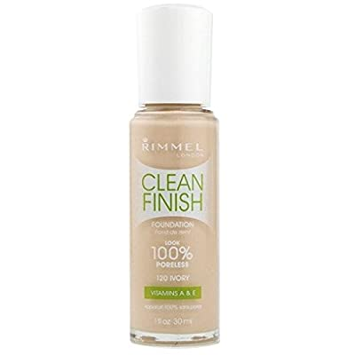 (Pack 2) Rimmel Clean Finish Foundation, Ivory, 1 Fluid Ounce