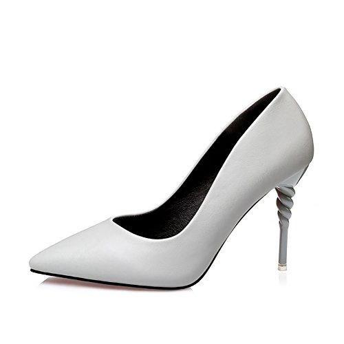 No.66 Town Women's Fashion Stiletto High Heel Pointed-toe Party Pumps Court Shoes Grey