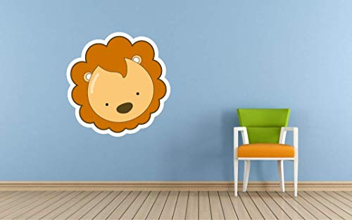 Lovely Lion for Nursery Wall Vinyl Color Wall Decal, Lovely Lion for Nursery Wall Color Wall Sticker, DP-25 WD