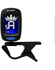Swiff A9 Mini Display Digital Clip On Tuner for Guitar, Ukulele, Bass, Chromatic Violin | Including Battery