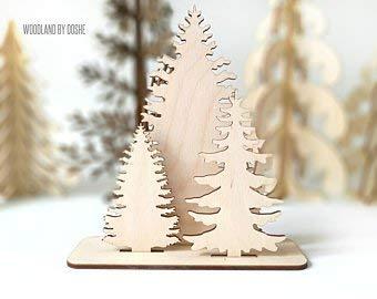 Cpwood Little Woodland Forest Sapin De Noël Arbre En