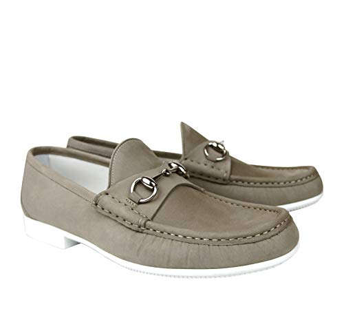 c933bc7f02864 Gucci Moccasin Suede Horsebit Loafer 337060 BHO00