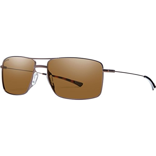 Smith Optics Turner Sunglass, Carbonic Polarized Brown Lens, Matte Brown