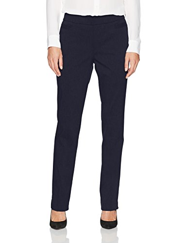 (Briggs New York Women's Super Stretch Millennium Welt Pocket Pull on Career Pant, Navy, 12)