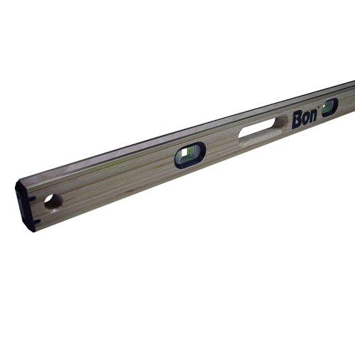 Bon 21-392 48-Inch Laminated American Hardwood Brass Bound Level with Hand ()