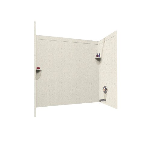 Swanstone SSIT-60-3-058 Solid Surface Bathtub Wall Panel System, 33.5-Inch x 60-Inch x 60-Inch, Tahiti Matrix, 3-Piece by Swanstone