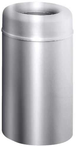 Rubbermaid Commercial Products Crowne Collection Aluminum Refuse Container with Open Top (30-Gallon) (FGAOT30SAPL) by Rubbermaid Commercial Products