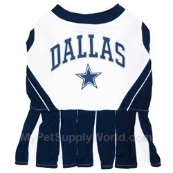 Pets First Dallas Cowboys Pet Cheerleader Uniform Extra Small ()